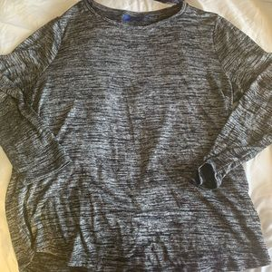 Heathered gray long sleeve